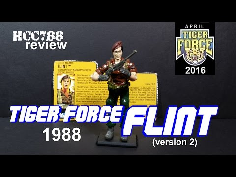 HCC788 - 1988 Tiger Force FLINT - TIGER FORCE MONTH! Vintage G.I. Joe toy review! HD