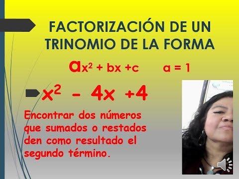 FACTORIZACIÓN DE UN TRINOMIO DE LA FORMA  AX2 + BX +C     A=1  🛵🐱🚀🚴♀️