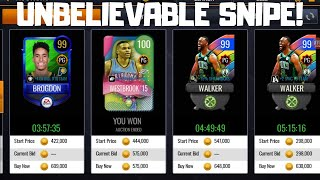 UNBELIEVABLE SNIPE!!! ROAD TO 100 MILLION COINS IN NBA LIVE MOBILE 20!!! EPISODE #14