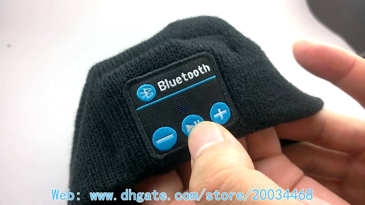 51ca4297384 Wireless Bluetooth Knit Hat Music Cap Hands-free Phone Call Answer  Ears-free Beanie Hat