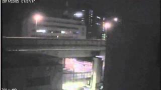 首都高箱崎ロータリー見つかってクラクション鳴らされる逆走車20110205 thumbnail