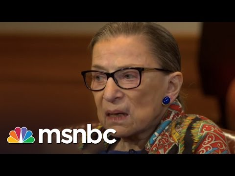 Ruth Bader Ginsburg Exclusive Interview | Rachel Maddow | MSNBC