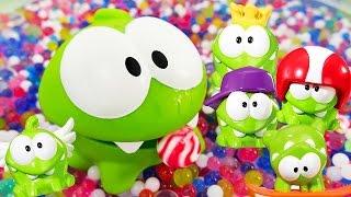 Видео для детей: АМ НЯМ все серии подряд. Игры Ам Няма. Видео с игрушками