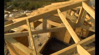 Этап 4-1. Строительство крыши для дома из SIP панелей.