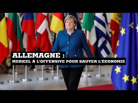 Allemagne: Angela Merkel à l'offensive pour sauver l'économie