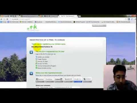 Setting Up a Custom FREE .TK Domain To Your Blogger - Hindi/English