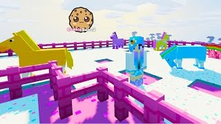 Cookieswirlc Minecraft Game Let's Play - MLP Horse Rarity Quest Gaming Video Fun