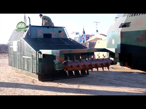 FSA Testing The Second Iteration Of A Tractor-based Mine Clearing Vehicle Produced