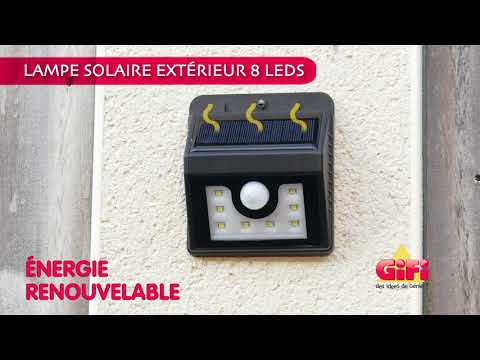 Lampe led solaire ext rieure gifi youtube for Projecteur gifi