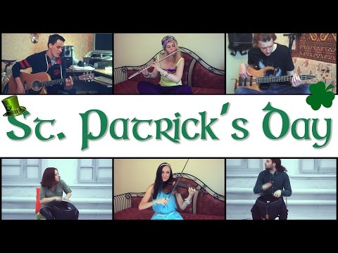 Happy St Patrick's Day - folk music (violin, guitar, bass-guitar, flute, djembe)