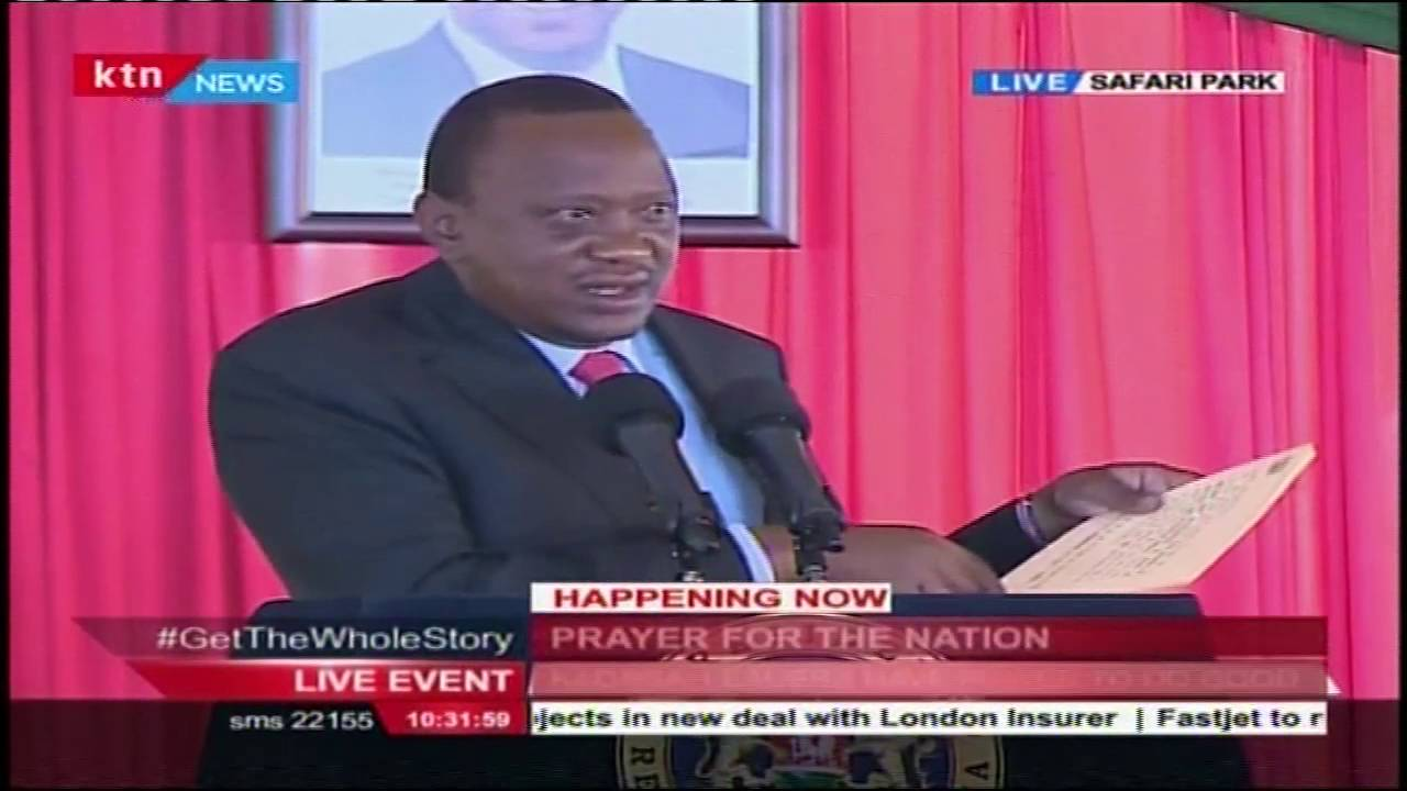 President Uhuru Kenyatta's [Full Speech] during National Prayer Breakfast