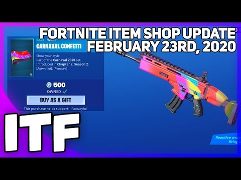 Fortnite Item Shop *NEW* CARNAVAL CONFETTI WRAP! [February 23rd, 2020] (Fortnite Battle Royale)
