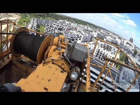 видео: башенный кран liebherr 112 litronic первобытный ! финал редуктора , и повседневность