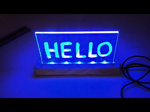 how to make acrylic led sign board