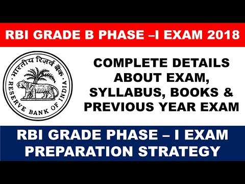 RBI GRADE B EXAM 2018 : ABOUT GRADE-B EXAM & PREPARATION STRATEGY