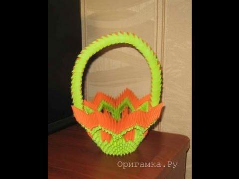 Модульное оригами Ваза lilygoldru