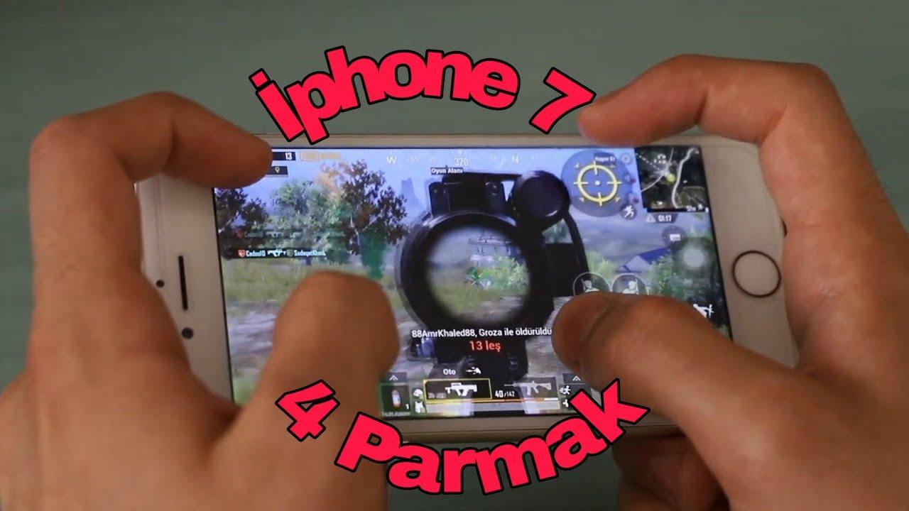 İphone 7 Pubg Mobile Test 4 Parmak ( 4 Fingers )