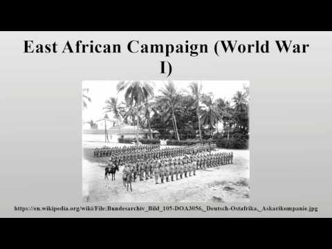 East African Campaign (World War I)