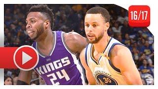 Stephen Curry vs Buddy Hield Duel Highlights (2017.03.24) Warriors vs Kings - SICK!