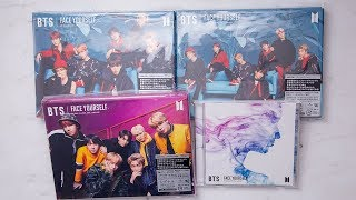 Unboxing BTS - Face Yourself Japanese Album, Normal + A-C Types