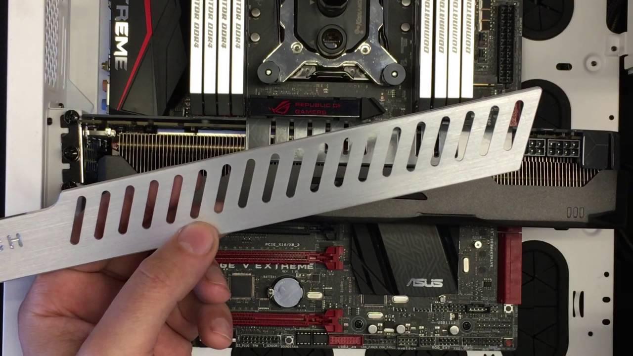 Fix GPU SAG with Mnpctech Support Arm Bracket Non-Reference
