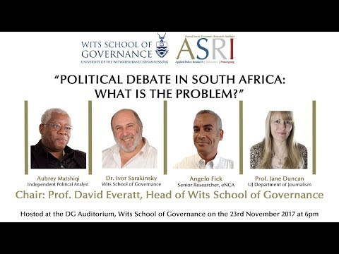 Political Debate In South Africa: What Is The Problem? (Public Event)
