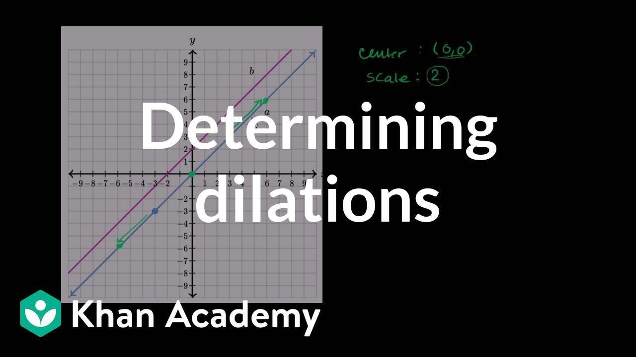 Dilating one line onto another | Transformations | Geometry | Khan ...