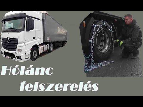 Hólánc felszerelése Kamionra