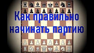 Шахматы. Урок 10 для начинающих. Шахматная партия. Стадии партии. Правила поведения. Дебют