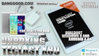 """Teclast X89 7.9"""" Dual OS [UNBOXING & HANDS-ON] Windows 8.1 + Android 4.4.4, Z3735F, 2GB RAM"""
