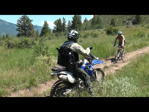 Motorcycle Dirt Bike Trail Etiquette on the National Forest