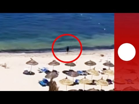 Le terroriste tunisien présumé filmé après son attaque à Sousse