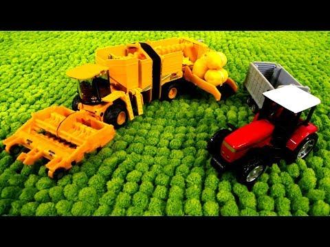Развивающие игры - Машины-помощники - Комбайн, трактор, погрузчик