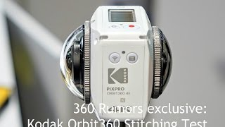 Kodak Pixpro Orbit360 4k (formerly 4kVR360) realtime stitching CES 2017