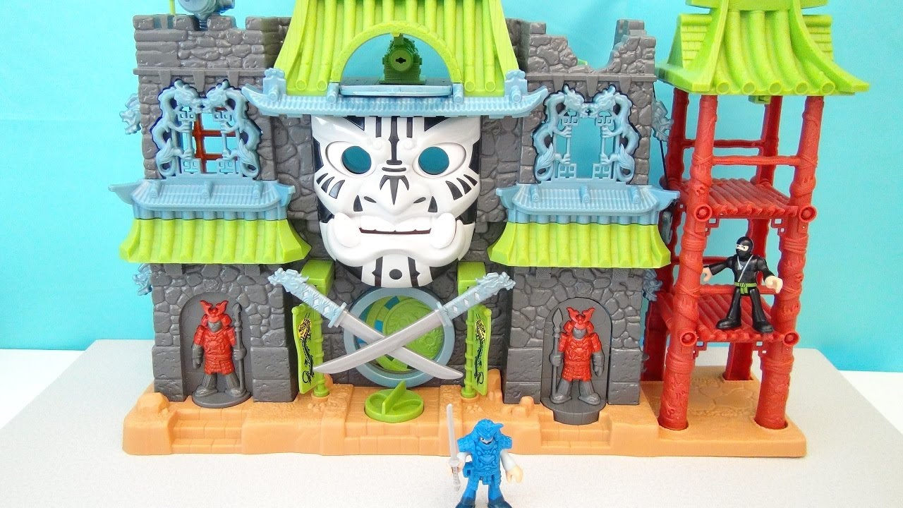 IMAGINEXT SAMARAI CASTLE PLAYSET TARGET EXCLUSIVE FISHER PRICE TOY REVIEW - YouTube