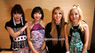 2NE1's Message to Thai fans