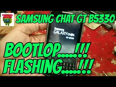 Cara Flash Samsung Galaxy Chat B5330 (Bootlop)