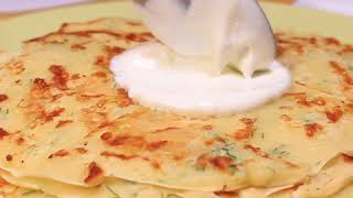 Рецепт сырных блинов с укропом