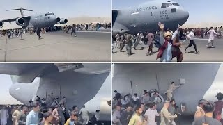 video: Desperate Afghans plunge to deaths from departing US planes as Kabul airport overrun
