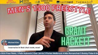 Grant Hackett calls the Men's 1500 Freestyle, Bobby Finke's dominating finish