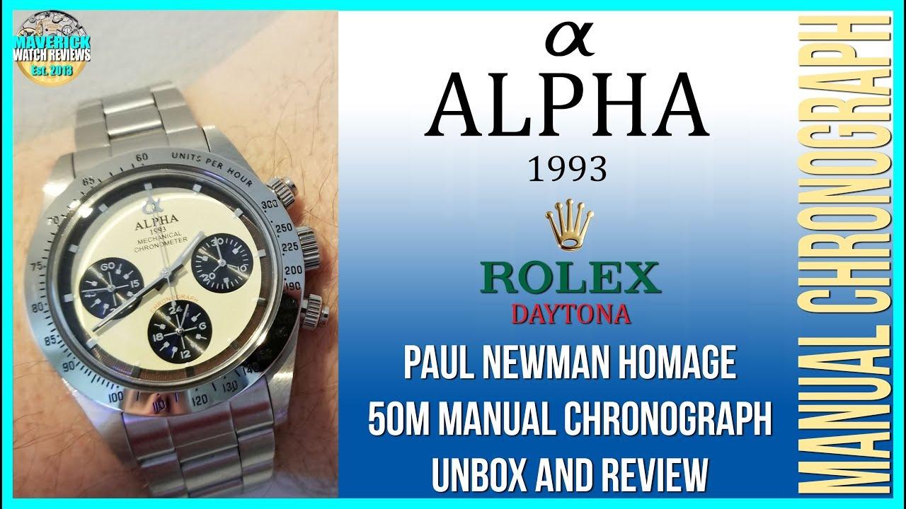 Very Nice Alpha Paul Newman Rolex Daytona Homage 30m Chinese
