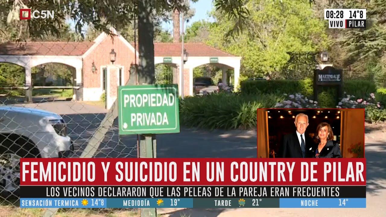Femicidio y suicidio en un country de Pilar: uno de sus hijos encontró los cuerpos en el baño