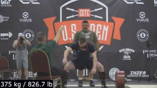 Yury Belkin US Open 980 kg/ 2160 lb @ 98.6 kg/ 217.4 lb