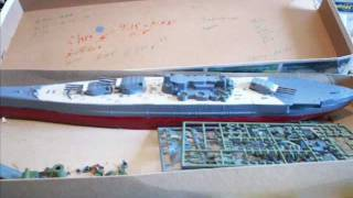 Musashi WWII Japanese Battleship Model Ship Building Progress 1-450 Hasegawa Kit Ressurection