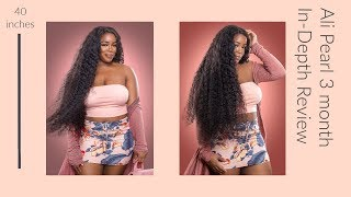 Start To Finish 3 Month Hair Review | Ali Pearl | 40 inches Brazilian Loose Deep Wave