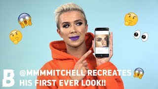 @MMMMITCHELL RECREATES HIS FIRST EVER LOOK!! 😮 WHERE ARE THE LASHES?! 🤔🤷♀️ | BEAUTY BAY