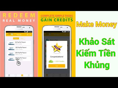 Make Money App Khảo Sát Kiếm Tiền Rút Về Paypal Cực Khủng