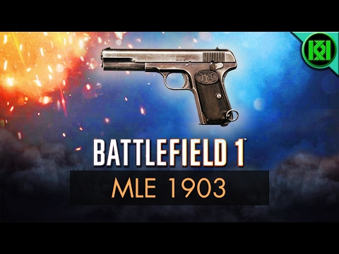 Battlefield 1: MLE 1903 Review Weapon Guide  BF1 Weapons + Guns  FN 1903 M07 Pistol Gameplay
