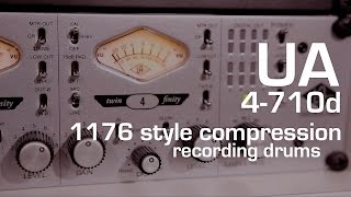 Universal Audio 4-710d : Exploring the 1176 style compression on drums