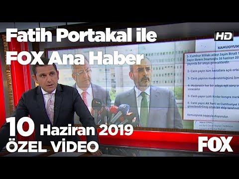 Ak Parti ve CHP İsmail Küçükkaya isminde anlaştı... 10 Haziran 2019 Fatih Portak